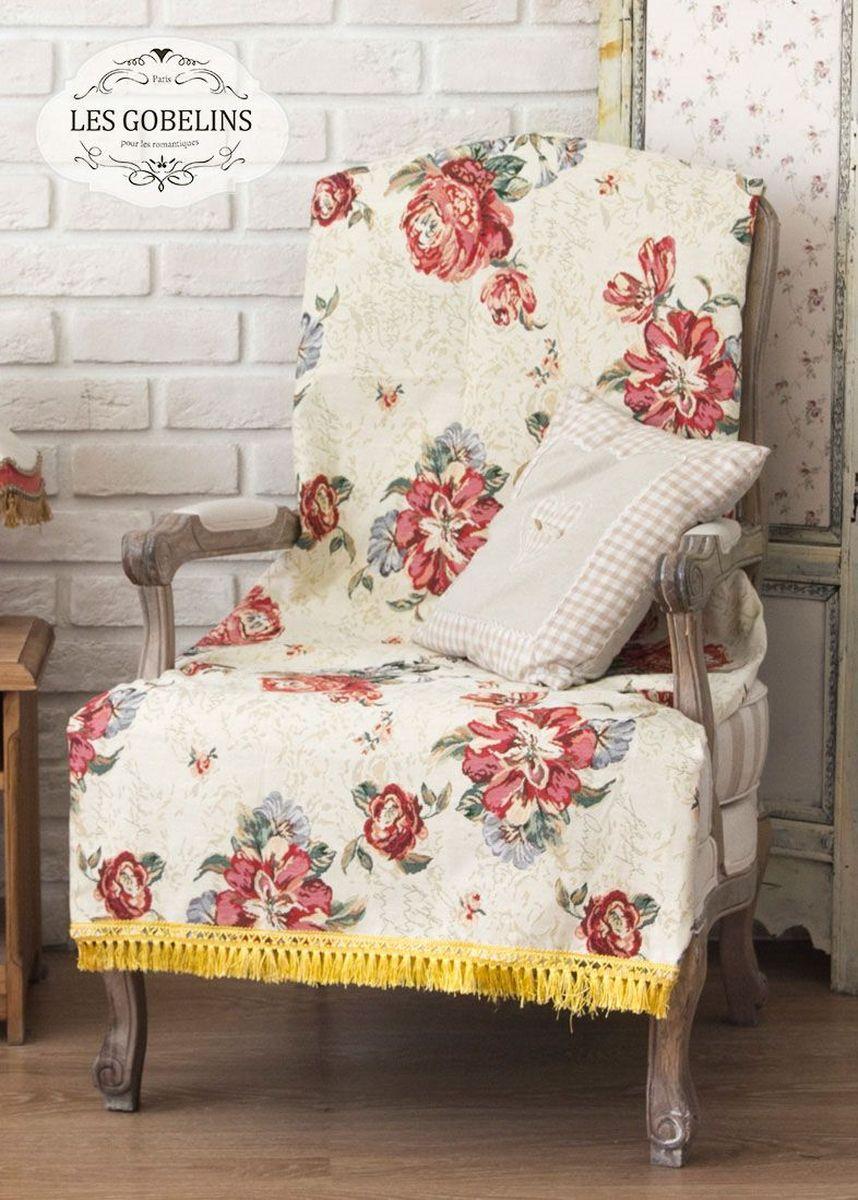 Покрывало на кресло Les Gobelins Cleopatra, 50 х 120 смlns185719Покрывало на кресло Les Gobelins Cleopatra с ярким цветочным рисунком привлечет к себе внимание и органично впишется в интерьер комнаты. Изделие изготовлено из высококачественной ткани гобелен и оформлено бахромой и кисточками. Необычайная красота сочетается в этом покрывале с высокой прочностью и долговечностью, а свойство гобелена по-разному проявлять себя в зависимости от освещения помещения позволяет открывать все новые и новые детали, которые, как казалось, раньше скрывал гобелен.Красочное и приятное на ощупь покрывало сделает интерьер спальни, детской или гостиной уютнее и своеобразнее. Состав материала: 52% хлопок, 48% полиэстер.