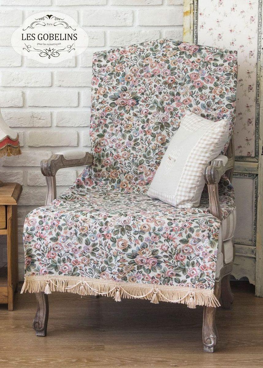 """Покрывало на кресло Les Gobelins """"Saupoudrer De Roses"""" с ярким цветочным рисунком привлечет к себе внимание и органично впишется в интерьер комнаты. Изделие изготовлено из высококачественной ткани гобелен и оформлено бахромой и кисточками. Необычайная красота сочетается в этом покрывале с высокой прочностью и долговечностью, а свойство гобелена по-разному проявлять себя в зависимости от освещения помещения позволяет открывать все новые и новые детали, которые, как казалось, раньше скрывал гобелен. Красочное и приятное на ощупь покрывало сделает интерьер спальни, детской или гостиной уютнее и своеобразнее.  Состав материала:  35% хлопок, 65% полиэстер."""