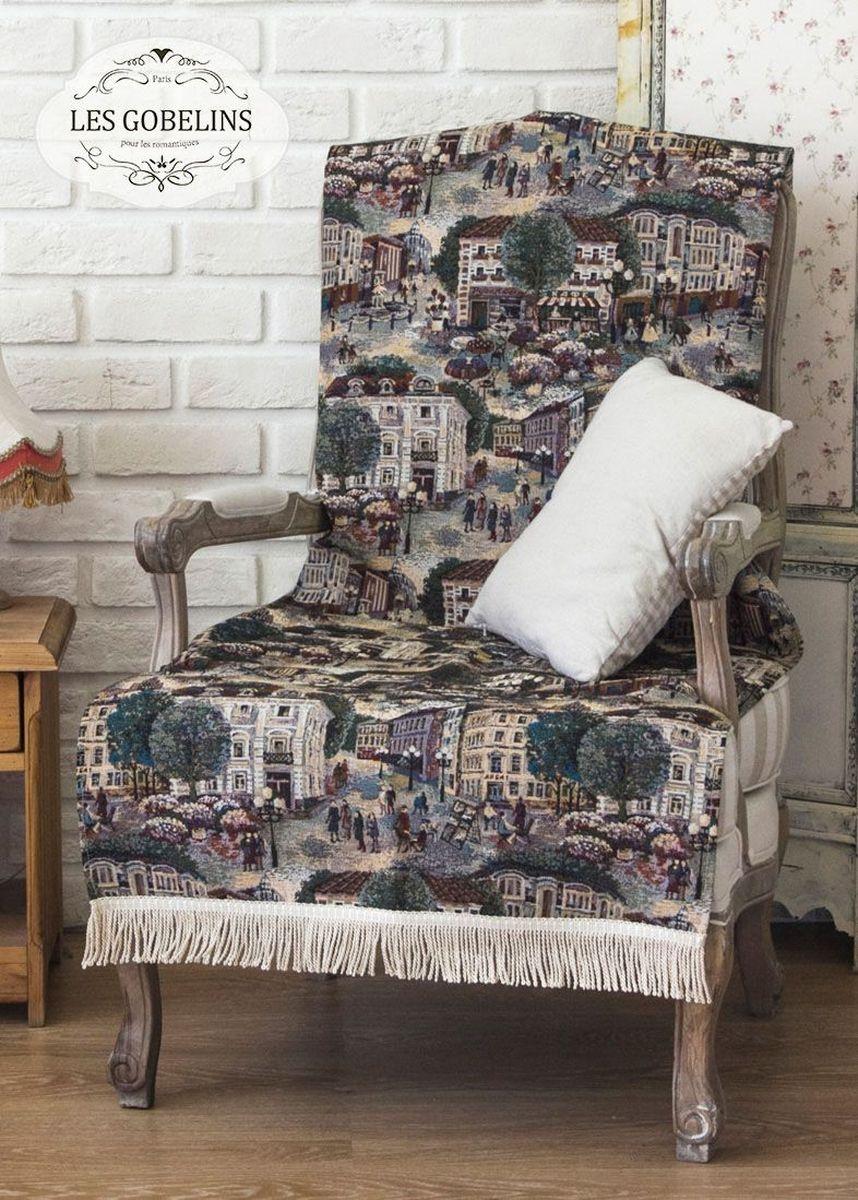 Покрывало на кресло Les Gobelins Arbat, 50 х 120 смlns186408Покрывало на кресло Les Gobelins Arbat с ярким рисунком привлечет к себе внимание и органично впишется в интерьер комнаты. Изделие изготовлено из высококачественной ткани гобелен и оформлено бахромой и кисточками. Необычайная красота сочетается в этом покрывале с высокой прочностью и долговечностью, а свойство гобелена по-разному проявлять себя в зависимости от освещения помещения позволяет открывать все новые и новые детали, которые, как казалось, раньше скрывал гобелен.Красочное и приятное на ощупь покрывало сделает интерьер спальни, детской или гостиной уютнее и своеобразнее. Состав материала: 35% хлопок, 65% полиэстер.
