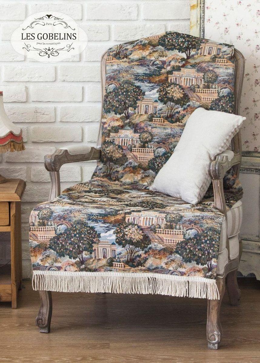 Покрывало на кресло Les Gobelins Paysage Du Parc, 50 х 120 смlns186461Покрывало на кресло Les Gobelins Paysage Du Parc с ярким рисунком привлечет к себе внимание и органично впишется в интерьер комнаты. Изделие изготовлено из высококачественной ткани гобелен и оформлено бахромой и кисточками. Необычайная красота сочетается в этом покрывале с высокой прочностью и долговечностью, а свойство гобелена по-разному проявлять себя в зависимости от освещения помещения позволяет открывать все новые и новые детали, которые, как казалось, раньше скрывал гобелен.Красочное и приятное на ощупь покрывало сделает интерьер спальни, детской или гостиной уютнее и своеобразнее. Состав материала: 35% хлопок, 65% полиэстер.