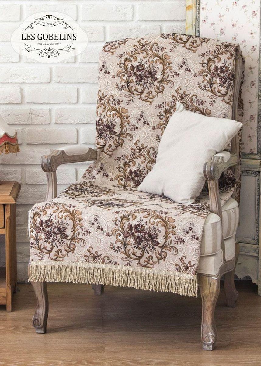 Покрывало на кресло Les Gobelins Francais, 50 х 120 смlns186938Покрывало на кресло Les Gobelins Francais с ярким цветочным рисунком привлечет к себе внимание и органично впишется в интерьер комнаты. Изделие изготовлено из высококачественной ткани гобелен и оформлено бахромой и кисточками. Необычайная красота сочетается в этом покрывале с высокой прочностью и долговечностью, а свойство гобелена по-разному проявлять себя в зависимости от освещения помещения позволяет открывать все новые и новые детали, которые, как казалось, раньше скрывал гобелен.Красочное и приятное на ощупь покрывало сделает интерьер спальни, детской или гостиной уютнее и своеобразнее. Состав материала: 50% хлопок, 50% полиэстер.