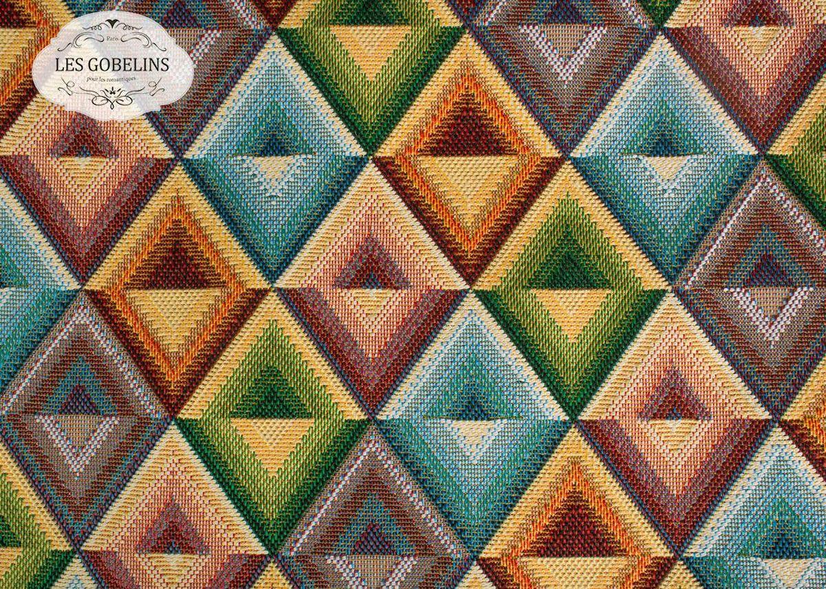 Покрывало на диван Les Gobelins Kaleidoscope, 160 х 230 смlns187292Покрывало на диван Les Gobelins Kaleidoscope с ярким геометрическим рисунком привлечет к себе внимание и органично впишется в интерьер комнаты. Изделие изготовлено из высококачественной ткани гобелен и оформлено бахромой и кисточками. Необычайная красота сочетается в этом покрывале с высокой прочностью и долговечностью, а свойство гобелена по-разному проявлять себя в зависимости от освещения помещения позволяет открывать все новые и новые детали, которые, как казалось, раньше скрывал гобелен.Красочное и приятное на ощупь покрывало сделает интерьер спальни, детской или гостиной уютнее и своеобразнее. Состав материала: 50% хлопок, 50% полиэстер.