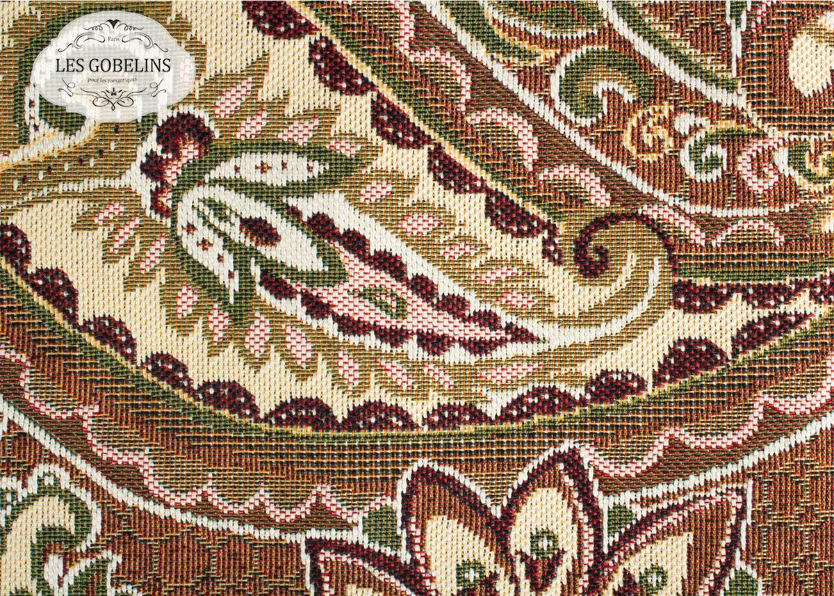 Покрывало на диван Les Gobelins Vostochnaya Skazka, 160 х 200 смlns187388Покрывало на диван Les Gobelins Vostochnaya Skazka с ярким орнаментом привлечет к себе внимание и органично впишется в интерьер комнаты. Изделие изготовлено из высококачественной ткани гобелен и оформлено бахромой и кисточками. Необычайная красота сочетается в этом покрывале с высокой прочностью и долговечностью, а свойство гобелена по-разному проявлять себя в зависимости от освещения помещения позволяет открывать все новые и новые детали, которые, как казалось, раньше скрывал гобелен.Красочное и приятное на ощупь покрывало сделает интерьер спальни, детской или гостиной уютнее и своеобразнее. Состав материала: 52% хлопок, 48% полиэстер.
