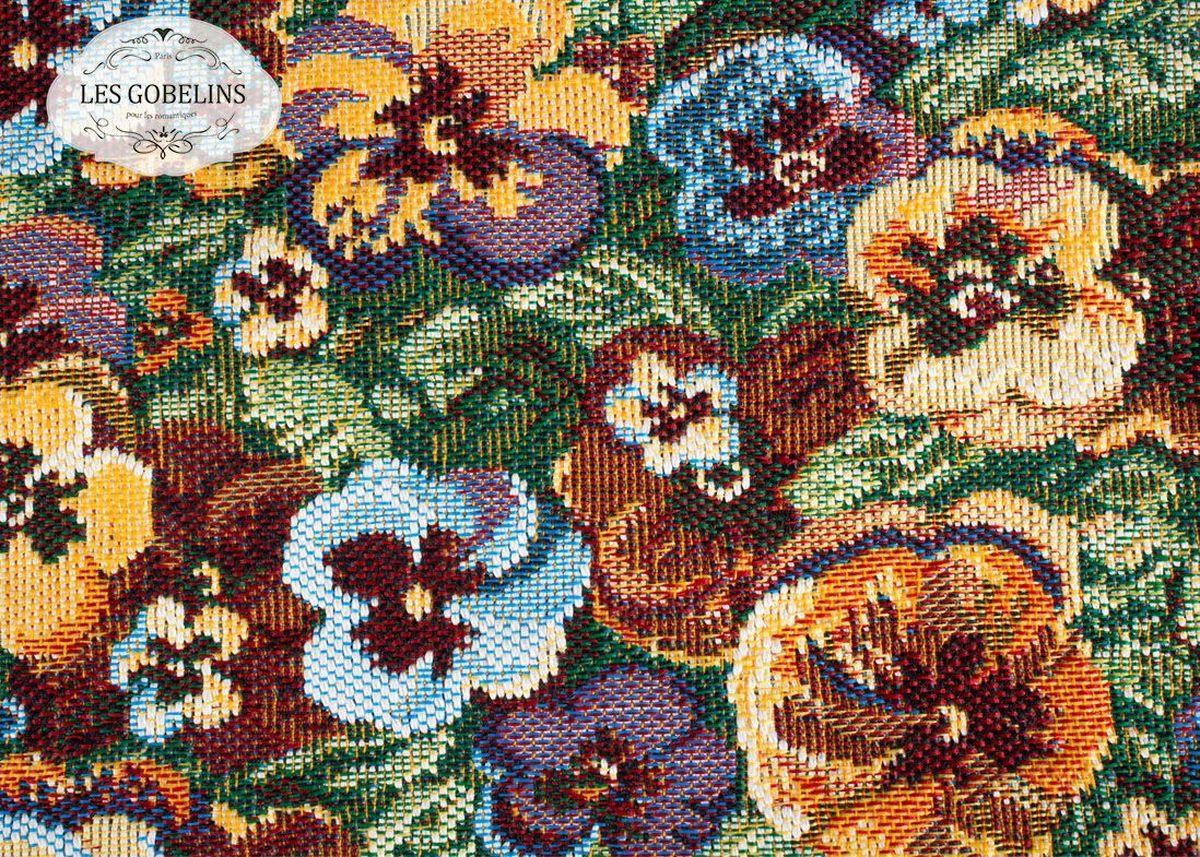 Покрывало на диван Les Gobelins Fleurs De Jardin, 160 х 230 смlns187492Покрывало на диван Les Gobelins Fleurs De Jardin с ярким цветочным рисунком привлечет к себе внимание и органично впишется в интерьер комнаты. Изделие изготовлено из высококачественной ткани гобелен и оформлено бахромой и кисточками. Необычайная красота сочетается в этом покрывале с высокой прочностью и долговечностью, а свойство гобелена по-разному проявлять себя в зависимости от освещения помещения позволяет открывать все новые и новые детали, которые, как казалось, раньше скрывал гобелен.Красочное и приятное на ощупь покрывало сделает интерьер спальни, детской или гостиной уютнее и своеобразнее. Состав материала: 52% хлопок, 48% полиэстер.