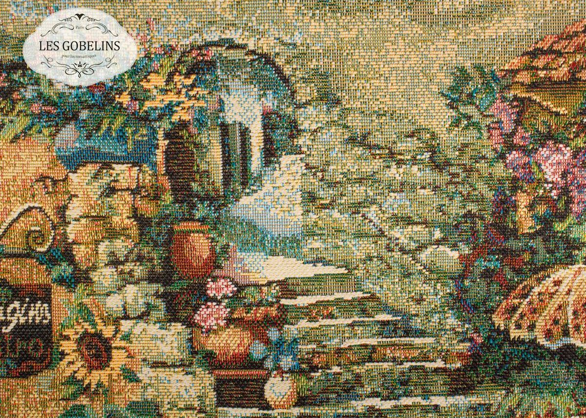 Покрывало на диван Les Gobelins Jardin DEden, 160 х 230 смlns187772Покрывало на диван Les Gobelins Jardin DEden с ярким рисунком привлечет к себе внимание и органично впишется в интерьер комнаты. Изделие изготовлено из высококачественной ткани гобелен и оформлено бахромой и кисточками. Необычайная красота сочетается в этом покрывале с высокой прочностью и долговечностью, а свойство гобелена по-разному проявлять себя в зависимости от освещения помещения позволяет открывать все новые и новые детали, которые, как казалось, раньше скрывал гобелен.Красочное и приятное на ощупь покрывало сделает интерьер спальни, детской или гостиной уютнее и своеобразнее. Состав материала: 49% хлопок, 51% полиэстер.
