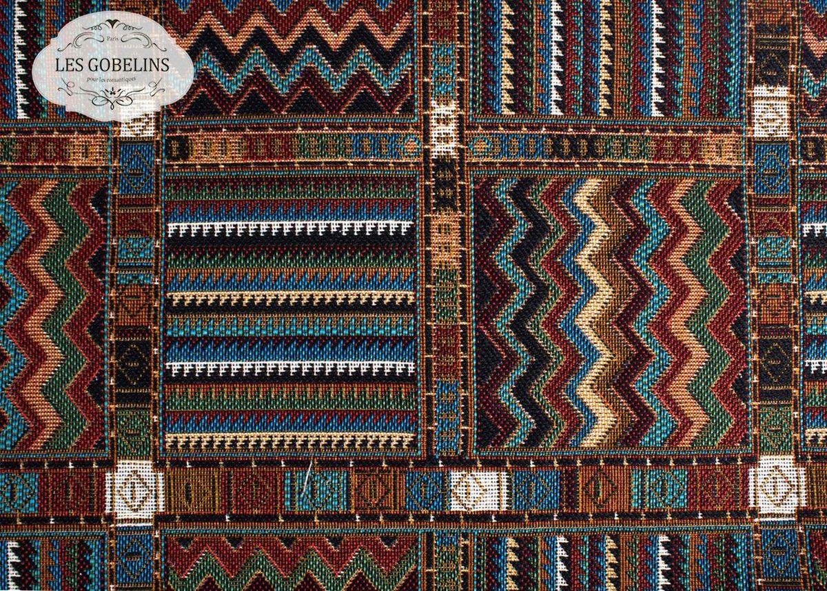 Покрывало на диван Les Gobelins Mexique, 160 х 230 смlns188092Покрывало на диван Les Gobelins Mexique с ярким геометрическим рисунком привлечет к себе внимание и органично впишется в интерьер комнаты. Изделие изготовлено из высококачественной ткани гобелен и оформлено бахромой и кисточками. Необычайная красота сочетается в этом покрывале с высокой прочностью и долговечностью, а свойство гобелена по-разному проявлять себя в зависимости от освещения помещения позволяет открывать все новые и новые детали, которые, как казалось, раньше скрывал гобелен.Красочное и приятное на ощупь покрывало сделает интерьер спальни, детской или гостиной уютнее и своеобразнее. Состав материала: 60% хлопок, 40% полиэстер.