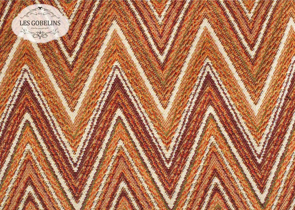Покрывало на диван Les Gobelins Zigzag, цвет: коричневый, 160 х 230 смlns188252Покрывало на диван Les Gobelins Zigzag с ярким геометрическим рисунком привлечет к себе внимание и органично впишется в интерьер комнаты. Изделие изготовлено из высококачественной ткани гобелен и оформлено бахромой и кисточками. Необычайная красота сочетается в этом покрывале с высокой прочностью и долговечностью, а свойство гобелена по-разному проявлять себя в зависимости от освещения помещения позволяет открывать все новые и новые детали, которые, как казалось, раньше скрывал гобелен.Красочное и приятное на ощупь покрывало сделает интерьер спальни, детской или гостиной уютнее и своеобразнее. Состав материала: 52% хлопок, 48% полиэстер.