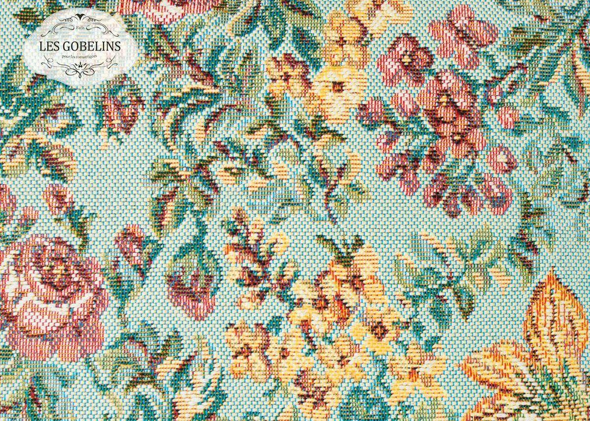 Покрывало на диван Les Gobelins Arrangement De Fleurs, цвет: голубой, 160 х 200 смlns188468Покрывало на диван Les Gobelins Arrangement De Fleurs с ярким цветочным рисунком привлечет к себе внимание и органично впишется в интерьер комнаты. Изделие изготовлено из высококачественной ткани гобелен и оформлено бахромой и кисточками. Необычайная красота сочетается в этом покрывале с высокой прочностью и долговечностью, а свойство гобелена по-разному проявлять себя в зависимости от освещения помещения позволяет открывать все новые и новые детали, которые, как казалось, раньше скрывал гобелен.Красочное и приятное на ощупь покрывало сделает интерьер спальни, детской или гостиной уютнее и своеобразнее. Состав материала: 52% хлопок, 48% полиэстер.