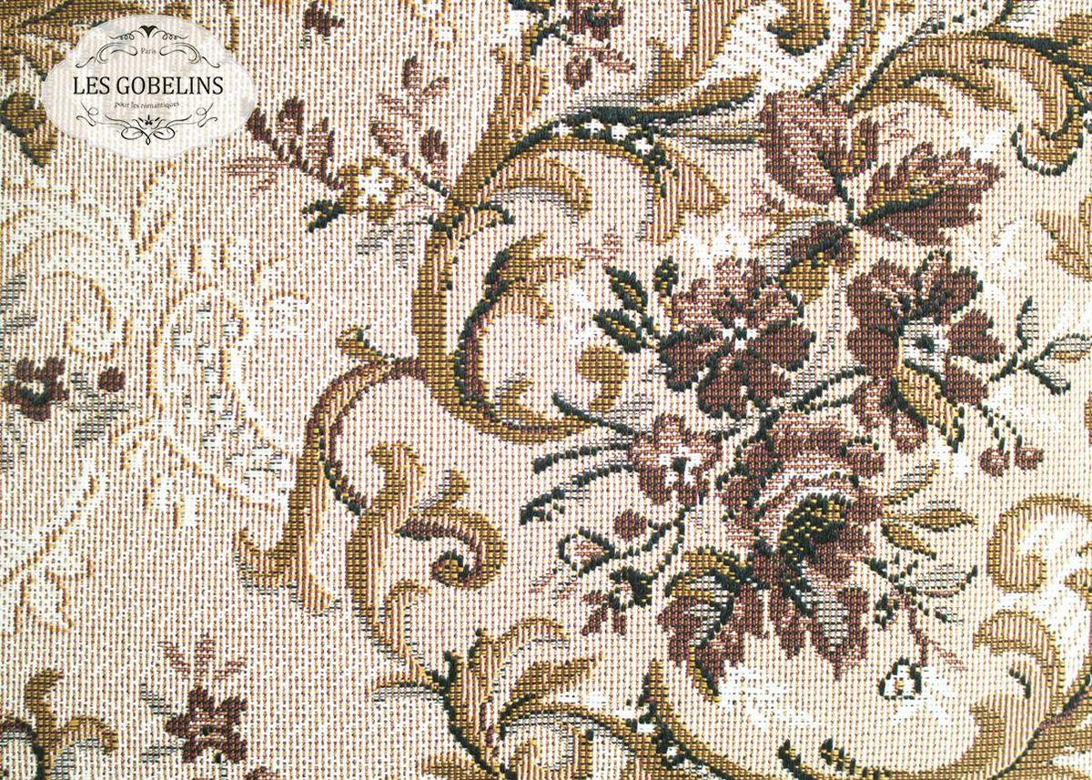 Покрывало на диван Les Gobelins Francais, 160 х 200 смlns188548Покрывало на диван Les Gobelins Francais с ярким цветочным рисунком привлечет к себе внимание и органично впишется в интерьер комнаты. Изделие изготовлено из высококачественной ткани гобелен и оформлено бахромой и кисточками. Необычайная красота сочетается в этом покрывале с высокой прочностью и долговечностью, а свойство гобелена по-разному проявлять себя в зависимости от освещения помещения позволяет открывать все новые и новые детали, которые, как казалось, раньше скрывал гобелен.Красочное и приятное на ощупь покрывало сделает интерьер спальни, детской или гостиной уютнее и своеобразнее. Состав материала: 50% хлопок, 50% полиэстер.