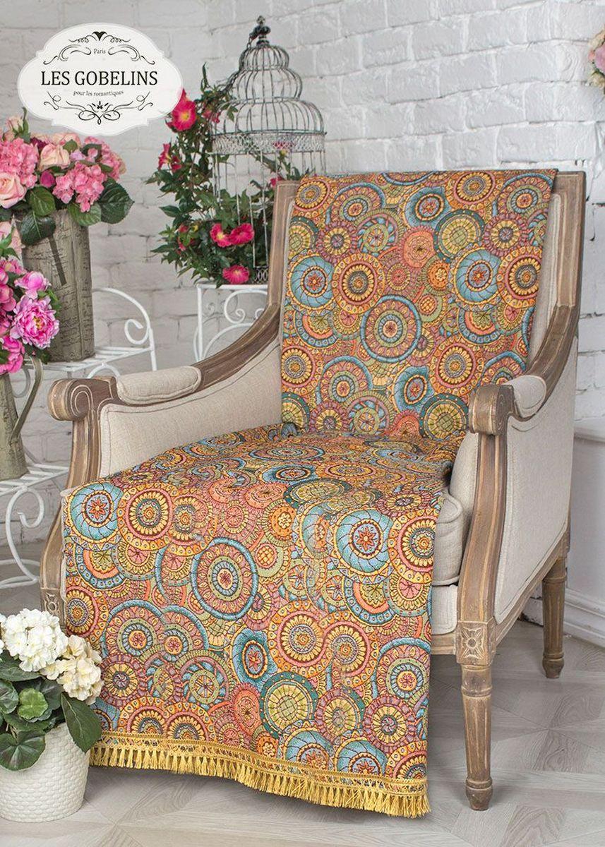 Покрывало на кресло Les Gobelins Galaxie, 50 х 120 смlns237732Покрывало на кресло Les Gobelins Galaxie с ярким рисунком привлечет к себе внимание и органично впишется в интерьер комнаты. Изделие изготовлено из высококачественной ткани гобелен и оформлено бахромой и кисточками. Необычайная красота сочетается в этом покрывале с высокой прочностью и долговечностью, а свойство гобелена по-разному проявлять себя в зависимости от освещения помещения позволяет открывать все новые и новые детали, которые, как казалось, раньше скрывал гобелен.Красочное и приятное на ощупь покрывало сделает интерьер спальни, детской или гостиной уютнее и своеобразнее. Состав материала: 50% хлопок, 50% полиэстер.