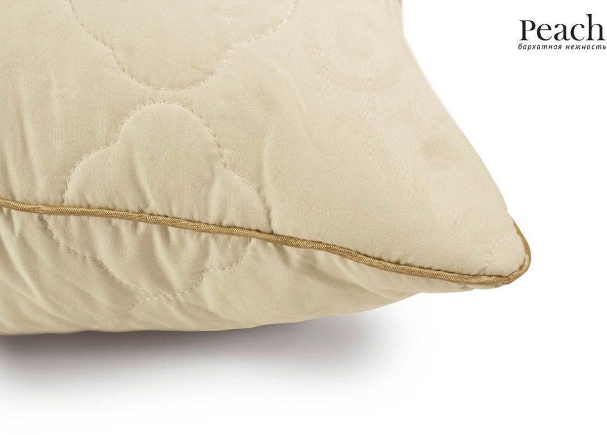 Подушка Peach, средняя, наполнитель: овечья шерсть, 70 х 70 см подушка подушкино овечья наполнитель шерсть вискоза цвет бежевый 50 см х 72 см