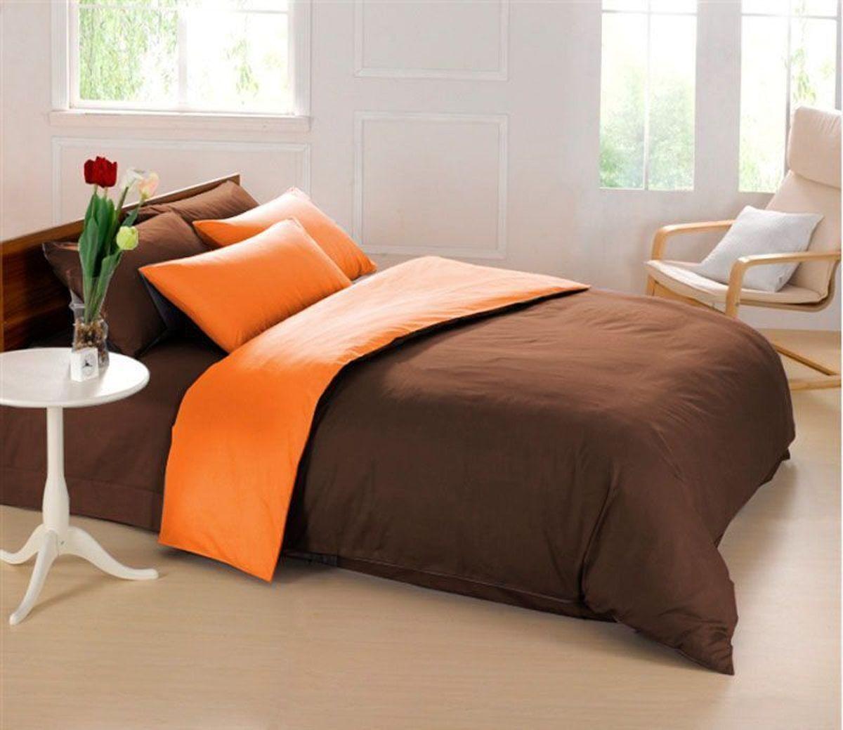 Комплект белья Sleep iX Perfection, семейный, наволочки 50х70, 70х70, цвет: оранжевый, темно-коричневый5747/4Комплект постельного белья Sleep iX Perfection состоит из двух пододеяльников, простыни и четырех наволочек. Предметы комплекта выполнены из абсолютно гипоаллергенной микрофибры, неприхотливой в уходе. Благодаря такому комплекту постельного белья вы сможете создать атмосферу уюта и комфорта в вашей спальне. Известно, что цвет напрямую воздействует на психологическое и физическое состояние человека. Оранжевый – вызывает ощущение теплоты, бодрости, веселья, создает хорошее настроение. Оранжевый омолаживает, возбуждает аппетит, способствует оптимистическому настрою и гармонии с окружающей средой.Коричневый - спокойный и сдержанный цвет. Вызывает ощущение тепла, способствует созданию спокойного мягкого настроения. Это цвет надежности, прочности, здравого смысла.Советы по выбору постельного белья от блогера Ирины Соковых. Статья OZON Гид