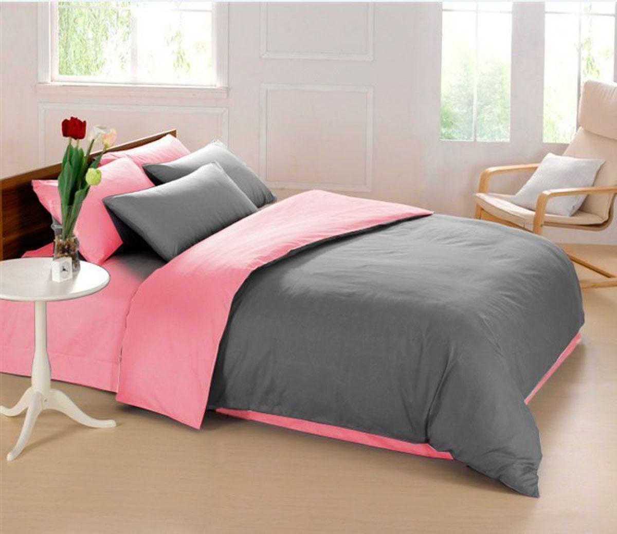 Комплект белья Sleep iX Perfection, семейный, наволочки 50х70, 70х70,цвет: серый, розовыйpva215419Комплект постельного белья Sleep iX Perfection состоит из двух пододеяльников, простыни и четырех наволочек. Предметы комплекта выполнены из абсолютно гипоаллергенной микрофибры, неприхотливой в уходе.Благодаря такому комплекту постельного белья вы сможете создать атмосферу уюта и комфорта в вашей спальне.Известно, что цвет напрямую воздействует на психологическое и физическое состояние человека. Серый – нейтральный цвет. Расслабляет, помогает успокоиться и способствует здоровому сну. Усиливает воздействие соседствующих цветов.Розовый – нежный и сентиментальный цвет. Обеспечивает здоровый сон, способствует мышечному расслаблению, успокаивает нервную систему.