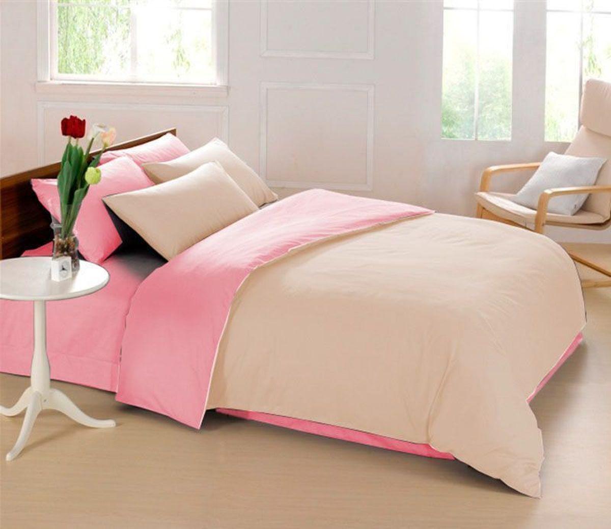 Комплект белья Sleep iX Perfection, семейный, наволочки 50х70, 70х70,цвет: розовый, бежевыйpva215423Комплект постельного белья Sleep iX Perfection состоит из двух пододеяльников, простыни и четырех наволочек. Предметы комплекта выполнены из абсолютно гипоаллергенной микрофибры, неприхотливой в уходе.Благодаря такому комплекту постельного белья вы сможете создать атмосферу уюта и комфорта в вашей спальне.Известно, что цвет напрямую воздействует на психологическое и физическое состояние человека. Бежевый – обладает внутренней теплотой, заряжает положительной энергетикой и способствует формированию душевной гармонии. Человек ощущает себя в окружении бежевого цвета очень спокойно. Розовый – нежный и сентиментальный цвет. Обеспечивает здоровый сон, способствует мышечному расслаблению, успокаивает нервную систему.