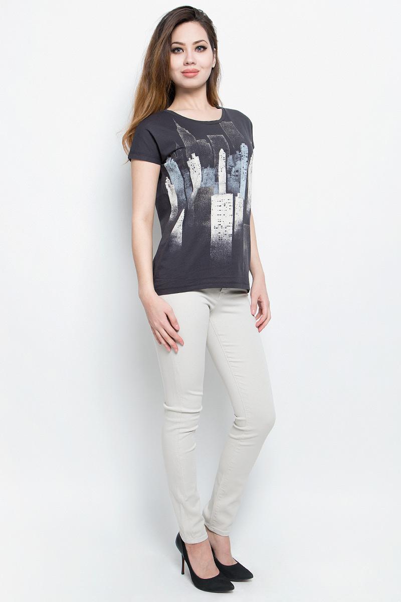 Футболка женская Calvin Klein Jeans, цвет: темно-серый. J20J204628. Размер M (44/46)J20J204628Отличная женская футболка Calvin Klein Jeans, выполненная из натурального хлопка,обладает высокой теплопроводностью, воздухопроницаемостью игигроскопичностью, позволяет коже дышать.Модель с круглым вырезомгорловины и цельнокроеными рукавами оформлена оригинальным принтом.