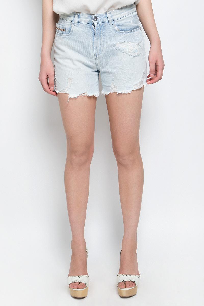Шорты женские Calvin Klein Jeans, цвет: светло-голубой. J20J204963. Размер 26 (38/40) шорты женские calvin klein jeans цвет светло голубой j20j204963 размер 26 38 40