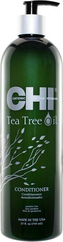 CHI Кондиционер с маслом чайного дерева,355 мл21033747Кондиционер с маслом чайного дерева. Легкий кондиционер наполняет влагой, питает и освежает волосы