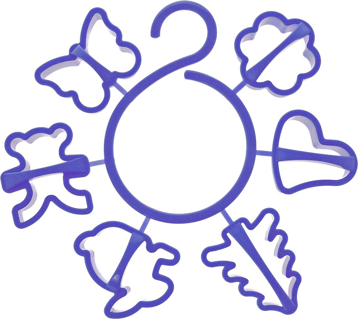 Набор форм для печенья Idea, цвет: синий, 6 штМ 1202_синийНабор Idea состоит из 6 форм, выполненных из полипропилена. Формы предназначены для приготовления печенья оригинальных форм. Набор позволит приготовить выпечку по вашему любимому рецепту, но в оригинальном праздничном оформлении, которое придется по душе всей семье.Формочки прикреплены к пластиковому крючку, благодаря чему их можно повесить в любом удобном для вас месте. Средний размер форм: 6,5 х 6 х 1,5 см.