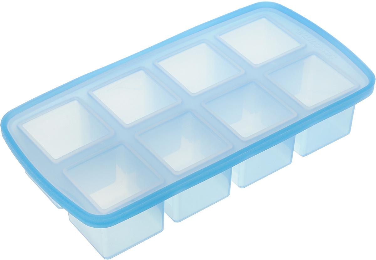 Форма для льда Tescoma myDRINK. Кубики, с крышкой, 8 ячеек308904Форма для льда Tescoma myDRINK. Кубики, изготовленная из высококачественного силикона, содержит 8 ячеек в виде кубиков. Пластиковая крышка предотвратит разлив воды и защитит лед от запахов других продуктов в морозильной камере. В формочки при заморозке воды можно помещать ягодки, такие льдинки не только оживят коктейль, но и добавят радостного настроения гостям на празднике!Изделие можно мыть в посудомоечной машине. Температура заморозки до -18°С.Количество ячеек: 8 шт. Размер формы: 25 х 13 х 5 см.Размер ячейки: 4,5 х 4,5 х 4 см.
