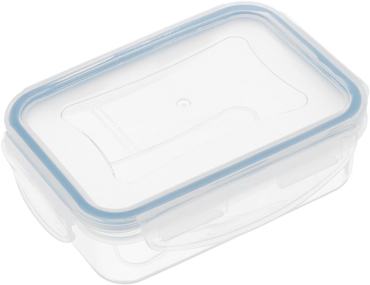 """Контейнер Tescoma """"Freshbox"""", изготовленный из прочного пластика, отлично подходит для хранения и разогрева блюд. Герметичная крышка имеет  силиконовый уплотнитель, пища остается свежей дольше и не протекает при перевозке. Подходит для холодильника, морозильных камер, микроволновой печи и посудомоечной машины.Размер контейнера: 12 х 8,5 х 4 см."""
