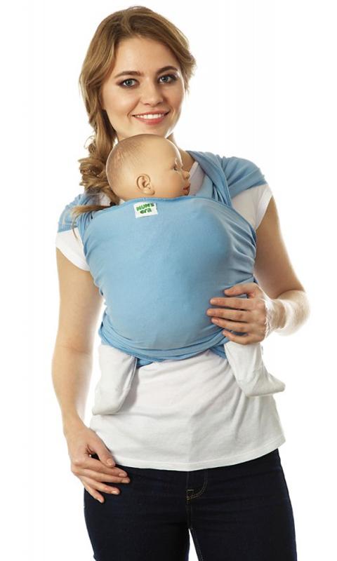 Mum's Era Слинг-шарф трикотажный Скай цвет голубой