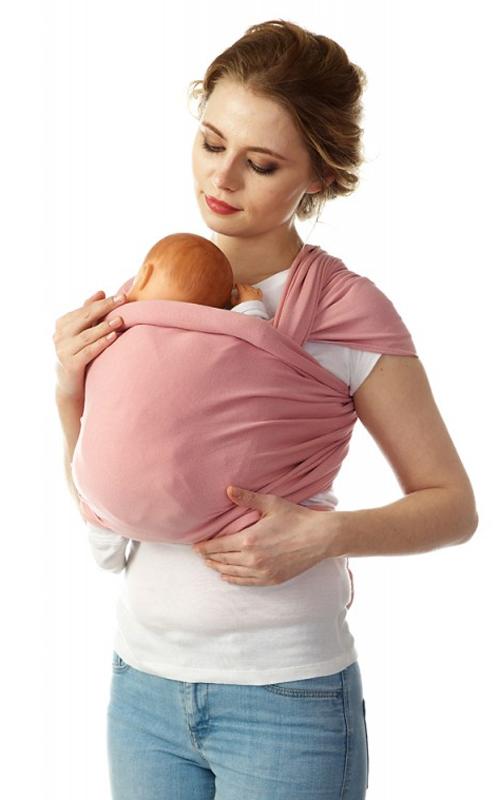 Mum's Era Слинг-шарф трикотажный Коралл цвет розовый