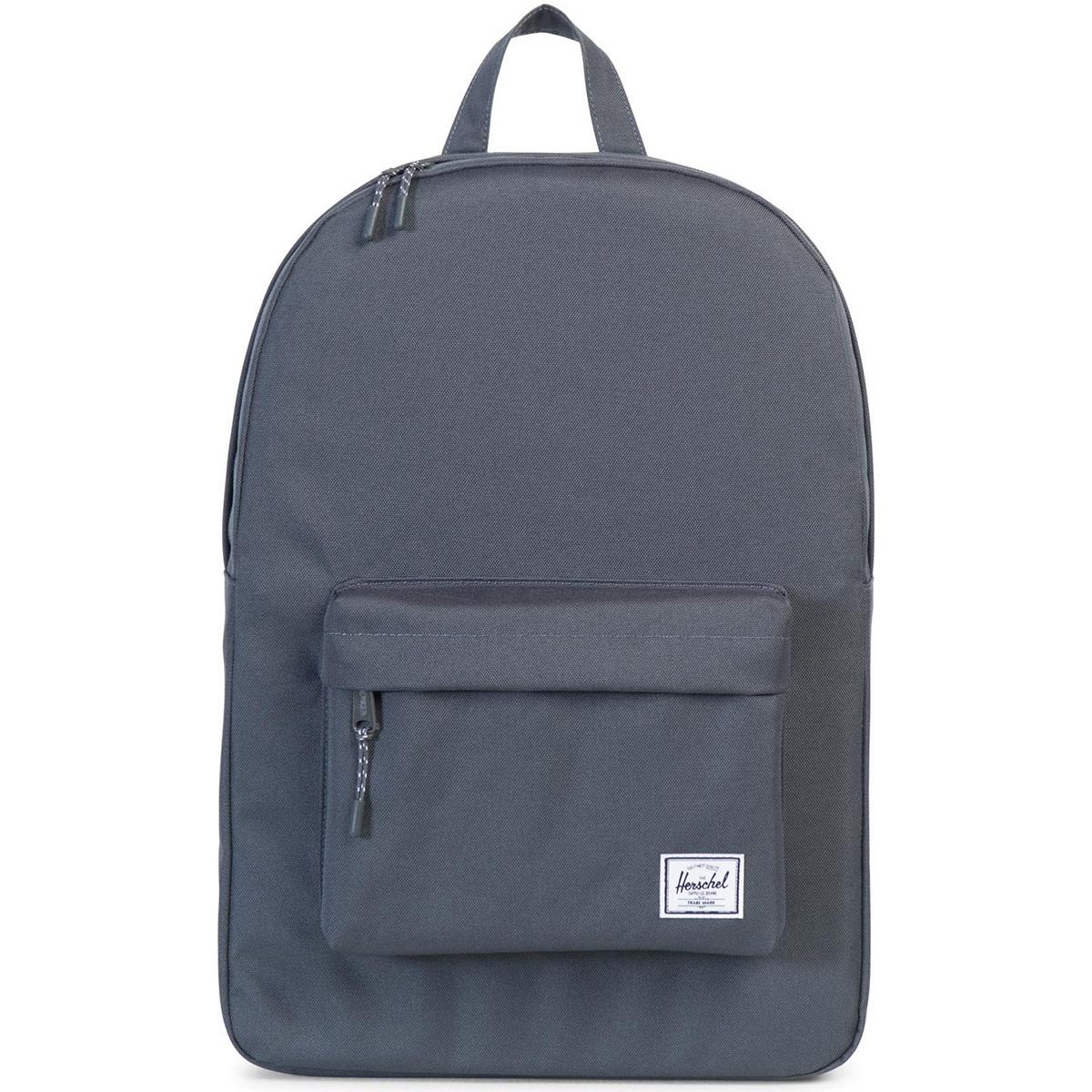 Рюкзак городской Herschel Classic (A/S), цвет: черный. 828432004973828432004973Рюкзак Herschel Classic целиком и полностью оправдывает свое название, выражая совершенство в лаконичных и идеальных линиях. Этот рюкзак создан для любых целей и поездок и отлично впишется в абсолютно любой стиль. Основное отделение закрывается на застежку-молнию. Внешняя сторона дополнена накладным карманом на застежке-молнии. Лямки регулируются, что позволяет менять положение рюкзака на спине.