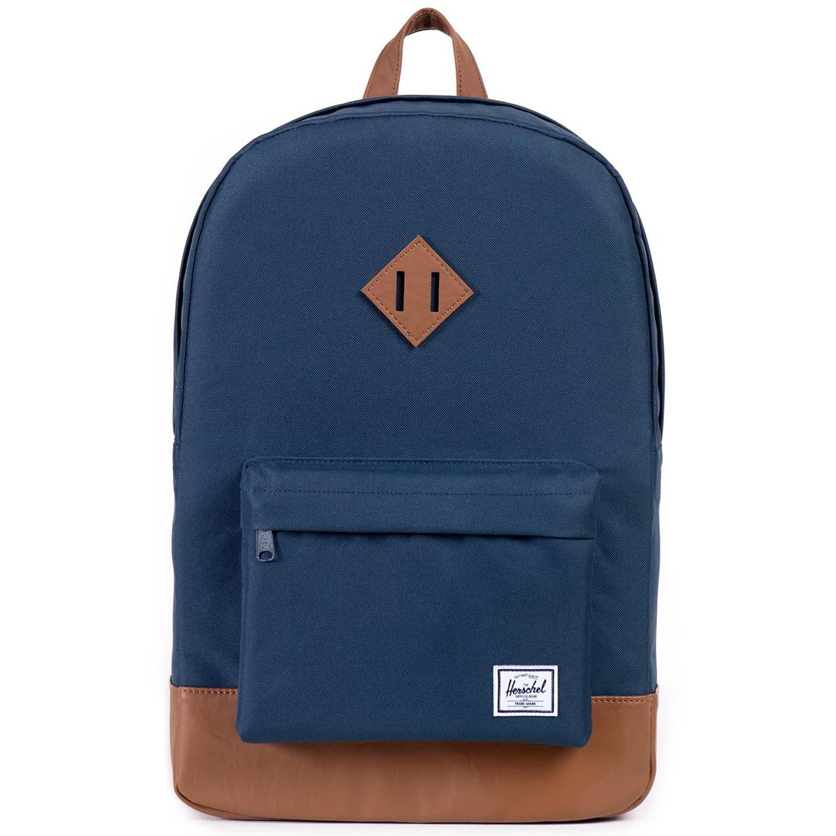 Рюкзак городской Herschel Heritage (A/S), цвет: синий, светло-коричневый. 828432005437 рюкзак городской herschel settlement цвет светло зеленый черный 23 л 10005 01555 os