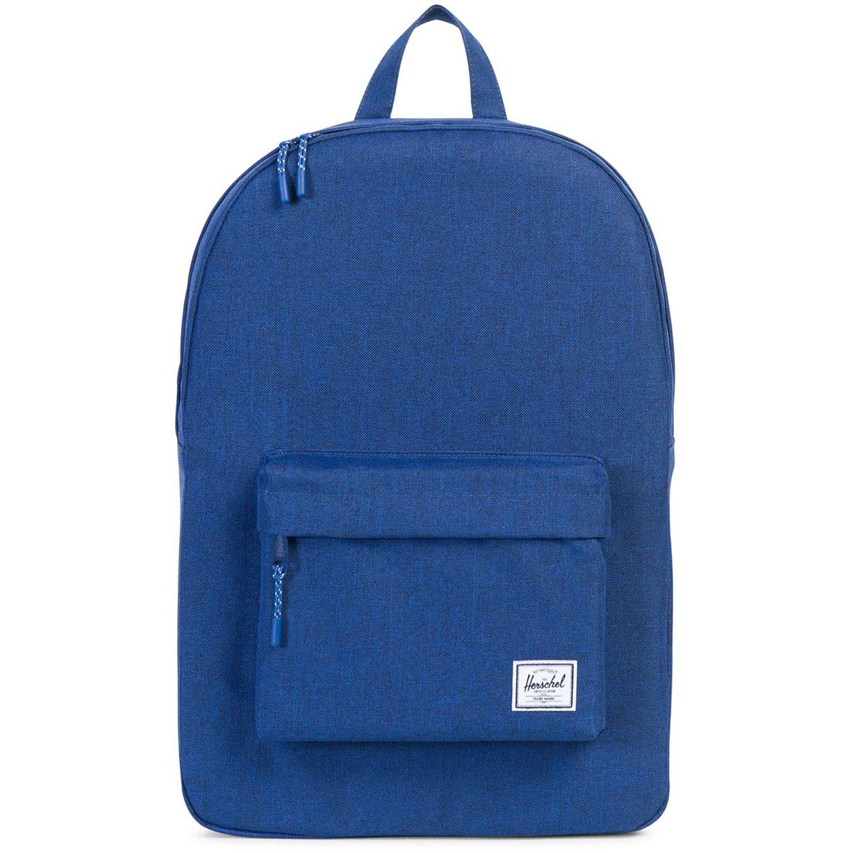 Рюкзак городской Herschel Classic (A/S), цвет: синий. 828432122561828432122561Рюкзак Herschel Classic целиком и полностью оправдывает свое название, выражая совершенство в лаконичных и идеальных линиях. Этот рюкзак создан для любых целей и поездок и отлично впишется в абсолютно любой стиль. Основное отделение закрывается на застежку-молнию. Внешняя сторона дополнена накладным карманом на застежке-молнии. Лямки регулируются, что позволяет менять положение рюкзака на спине.