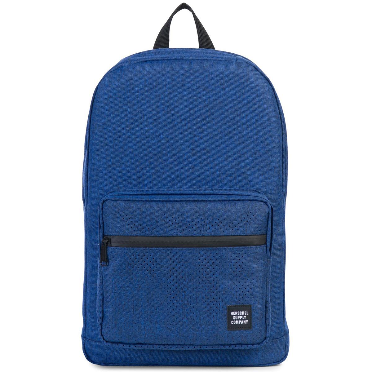 Рюкзак городской Herschel Pop Quiz (A/S), цвет: синий. 828432122929828432122929Рюкзак Herschel Pop Quiz выполнен из высококачественного материала. Этот рюкзак создан для любых целей и поездок и отлично впишется в абсолютно любой стиль. Основное отделение закрывается на застежку-молнию. Внешняя сторона дополнена накладным карманом на застежке-молнии. Лямки регулируются, что позволяет менять положение рюкзака на спине.