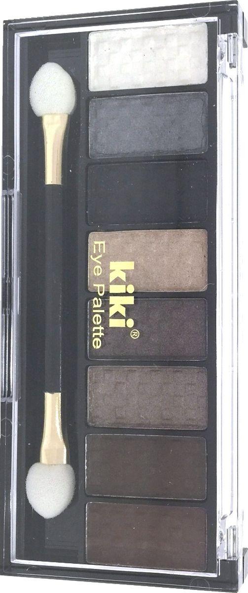 Kiki Тени для век Eye Palette 803, 6.88 гр10909803Восемь гармоничных оттенков в одном наборе позволяют создать самый разнообразный макияж глаз. Исключительно нежная и богатая формула теней KIKI EYE PALETTE позволяет с легкостью придать вашим векам устойчивый насыщенный оттенок с бесподобным блеском. Высокое содержание перламутра в тенях обеспечивает яркий блеск и сияние.