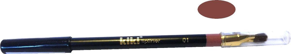 Kiki Карандаш для губ с кисточкой 01, 1.3 гр,11501001Нежная текстура создает идеальный контур. Предохраняет помаду от растекания. Мягкая, удобная кисточка позволяет нанести помаду тонким и аккуратным слоем.