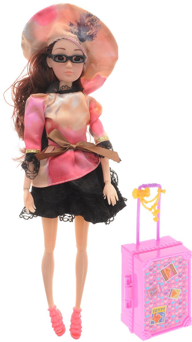 Veld-Co Кукла Emily цвет платья розовый черный veld co игровой набор с куклой торговый центр