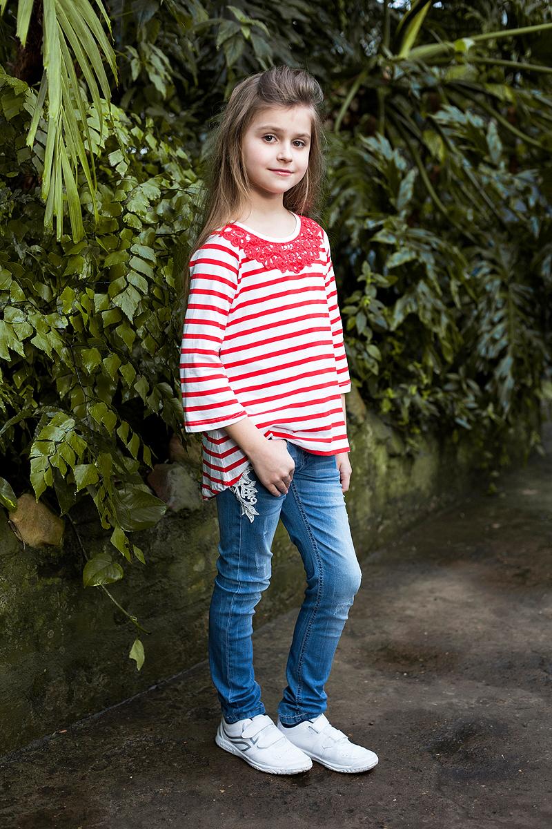 Джинсы для девочки Luminoso, цвет: синий. 718117. Размер 134 платье для девочки luminoso цвет синий белый 718102 размер 134