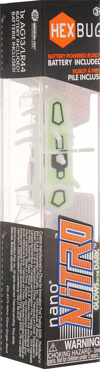 Hexbug Микро-робот Nano Nitro цвет белый зеленый deskpets микро робот скитербот цвет зеленый