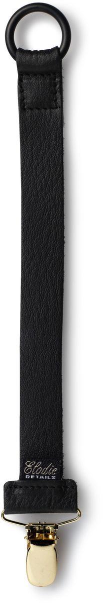Elodie Details Клипса-держатель для соски-пустышки Leather от 0 месяцев цвет черный - Все для детского кормления