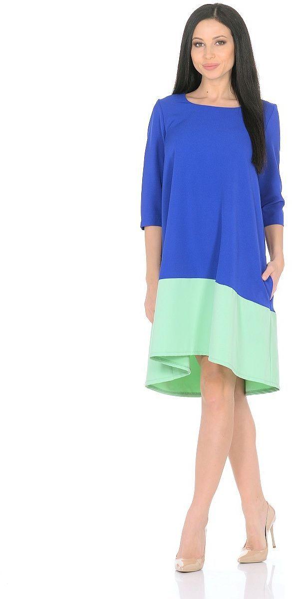 Платье Milton, цвет: синий, салатовый. WD-2626F. Размер 46 milton обувь