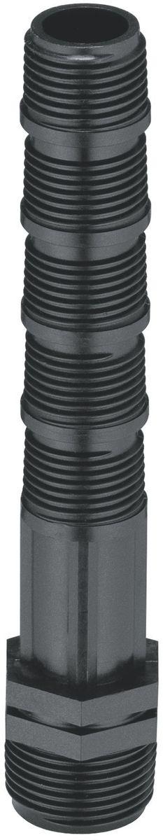 Удлинитель дождевателя Gardena, 3/4 х 1/202742-20.000.00Удлинитель Gardena позволяет глубже спрятать трубы под землю и легче регулировать установку дождевателей по высоте 3/4х1/2. Выполнен из прочного пластика.Подключение к трубе 25 и 32 мм с помощью удлинителей.