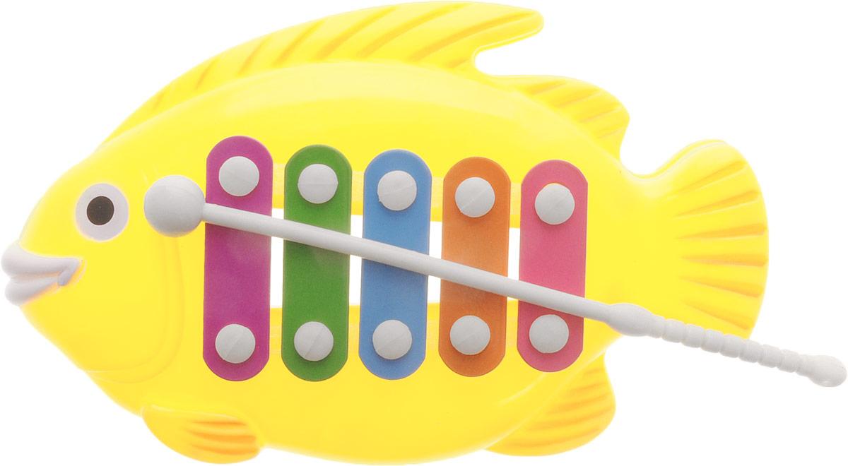 Veld-Co Металлофон Рыбка цвет желтый аксессуары veld co набор переводных татуировок черепа