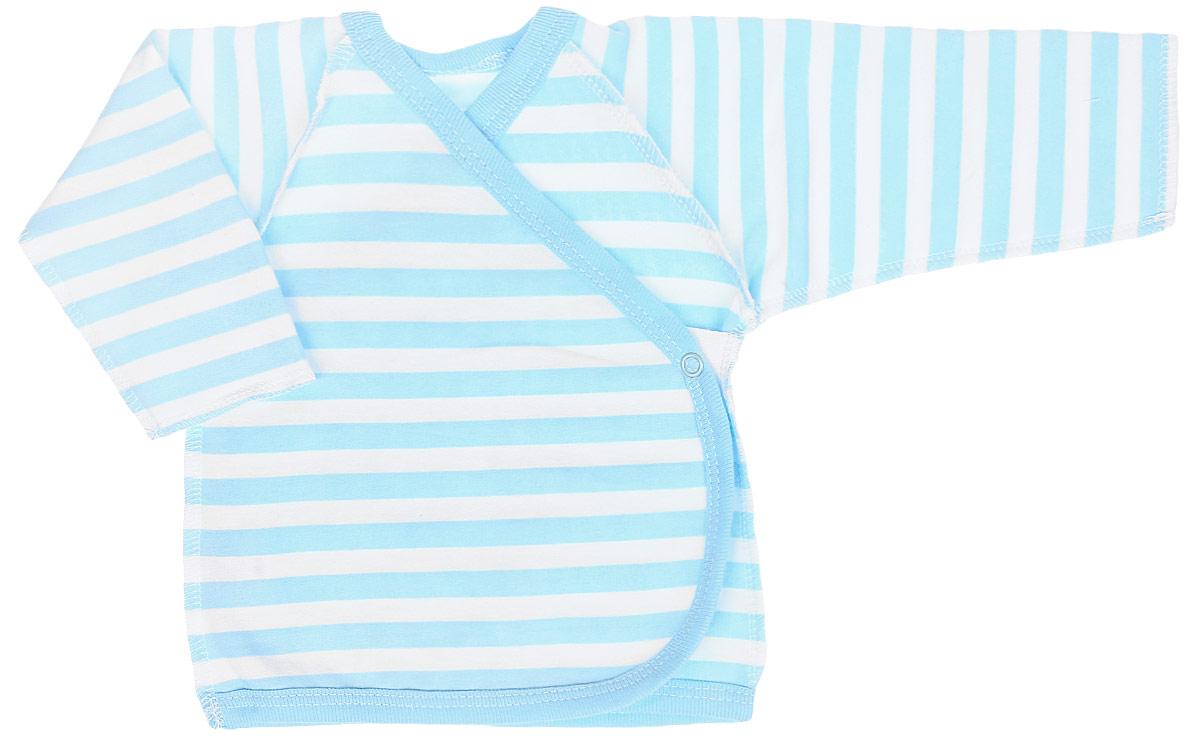 Распашонка детская КотМарКот Be Bear, цвет: голубой, белый. 4272. Размер 68, 3-6 месяцев распашонка для девочки котмаркот дрим цвет розовый белый 4270 размер 68 3 6 месяцев