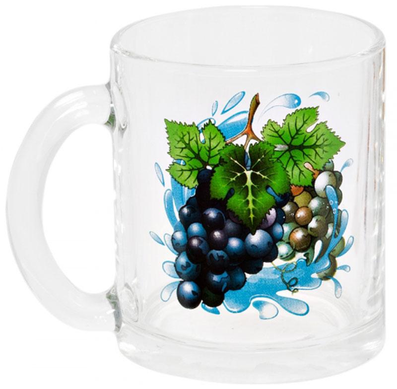 """Кружка OSZ """"Чайная. Виноград"""" изготовлена из термостойкого стекла и украшена ярким рисунком. Изделие оснащено удобной ручкой и сочетает в себе лаконичный дизайн и функциональность. Идеально подойдет для чая и других горячих напитков. Яркий принт поднимет настроение вам и вашим гостям!    Кружка OSZ """"Чайная. Виноград"""" не только украсит ваш кухонный стол, но и подчеркнет прекрасный вкус хозяйки."""