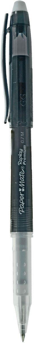 Paper Mate Ручка гелевая Replay Premium со стираемыми чернилами и ластиком цвет чернил черный1901322Гелевая ручка Paper Mate Replay Premium - незаменимый предмет на любом рабочем столе. Корпус ручек выполнен из прочного прозрачного пластика. Гелевая ручка, что обеспечивает комфорт и удобство при письме, так как позволяет пальцам принять естественное положение. Стержень имеет шарик диаметром 0,7 мм.Такая ручка обеспечит четкий цвет и мягкое письмо.