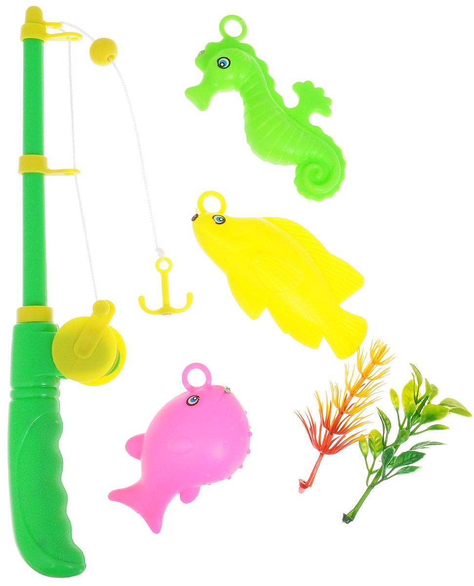 Junfa Toys Игровой набор Удочка с 3 морскими животными