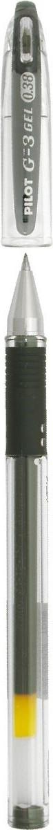 Pilot Ручка гелевая G-3 цвет чернил черныйBLN-G3-38-BПереворот среди гелевых ручек!Pilot G3 - это серия, выпущенная специально для любителей тонкого письма. Все ручки этой серии имеют особо тонкий пишущий механизм, снабженный шариком из карбида вольфрама, диаметром всего 0,38 мм. Равномерная подача чернил и удобный прорезиненный упор для пальцев делают письмо легким и плавным, без усилий, оставляя на бумаге линию толщиной всего 0,2 мм.Ручка имеет прорезиненный упор в цвет чернил, съемный колпачок.