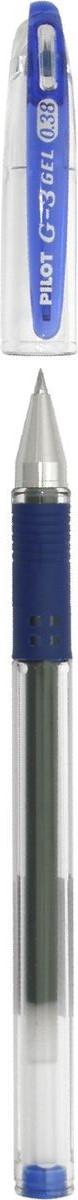 Pilot Ручка гелевая G-3 цвет чернил синийBLN-G3-38-LПереворот среди гелевых ручек!Pilot G3 - это серия, выпущенная специально для любителей тонкого письма. Все ручки этой серии имеют особо тонкий пишущий механизм, снабженный шариком из карбида вольфрама, диаметром всего 0,38 мм. Равномерная подача чернил и удобный прорезиненный упор для пальцев делают письмо легким и плавным, без усилий, оставляя на бумаге линию толщиной всего 0,2 мм.Ручка имеет прорезиненный упор в цвет чернил, съемный колпачок.