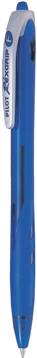 Pilot Ручка шариковая Rexgrip цвет чернил синий 0,5 ммBPRG-10R-EF-LАвтоматическая шариковая ручка с интегрированным в корпус прорезиненным захватом для пальцев. Чернила на масляной основе для мягкого и легкого письма. Наконечник стержня изготовлен из нержавеющей стали, а шарик - из карбида вольфрама. Пластиковый корпус тонирован в цвет чернил ручки.