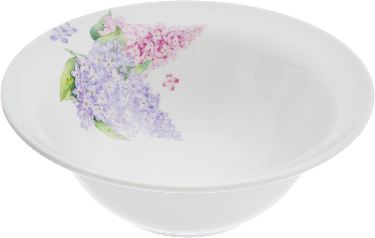 """Оригинальная миска """"Идиллия. Сирень"""",  изготовленная из высококачественного фарфора,  декорирована красочным изображением цветов.  Такая миска украсит сервировку вашего стола и  подчеркнет прекрасный вкус хозяина, а также  станет отличным подарком."""