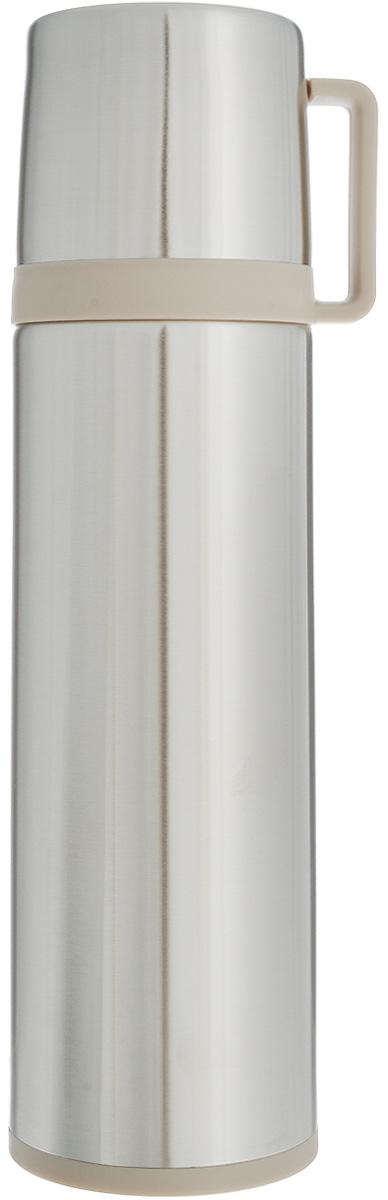 Термос Tescoma Constant, с крышкой-кружкой, цвет: стальной, бежевый, 0,7 лME750Термос Tescoma Constant - это вакуумный термос с двойной колбой из высококачественной нержавеющей стали. Термос сохраняет напитки горячими и холодными на протяжении длительного времени. Оснащен крышкой и пробкой с кнопкой для удобного розлива без снижения температуры. Термос Tescoma Constant прекрасно подходит для дома, офиса и для путешествий. Сохранение температуры в термосе зависит от количества и температуры напитка, от частоты его открывания и от температуры воздуха. Крышка может использоваться как кружка. Диаметр термоса по верхнему краю: 5,2 см. Диаметр дна: 7,8 см. Высота термоса с учетом крышки: 28,5 см.
