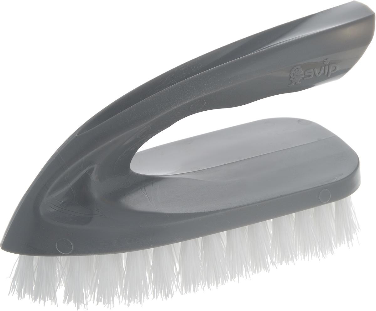 Щетка для одежды Svip Утюжок Мега. Классика, цвет: серебряный, белый, 14 х 6 х 8,5 смSV3834СБ-36РSЩетка для одежды Svip Утюжок Мега. Классика, изготовлена из высококачественного полипропилена и предназначена для удаления ворсинок, волос, пыли и шерсти животных с различных поверхностей.Щетка имеет удобную ручку, обеспечивающую удобный хват.Щетина средней жесткости не повреждает поверхность.Щетка для одежды Svip Утюжок Мега. Классика станет незаменимым аксессуаром в вашем доме или автомобиле.Длина щетины: 2,5 см, Размер щетки: 14 х 6 х 8,5 см.