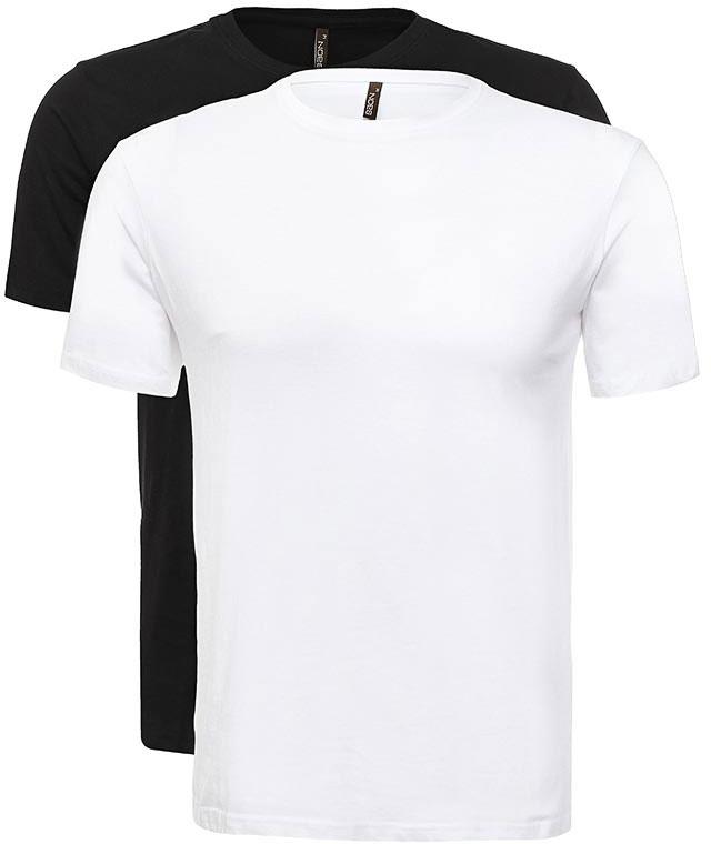 Футболка мужская Baon, цвет: белый, черный. B737082_White-Black. Размер S (46)B737082_White-BlackФутболка мужская Baon выполнена из 100% хлопка. Модель с короткими рукавами и круглым вырезом горловины.